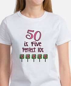 50 is Five Perfect TENS Tee