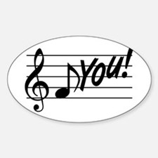 Music Note F You Decal