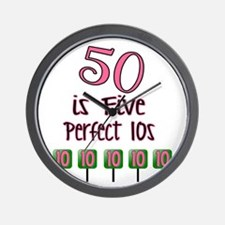 50 is Five Perfect TENS Wall Clock