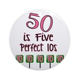 50th birthday Ornaments