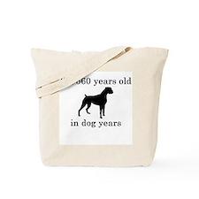 80 birthday dog years boxer Tote Bag