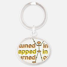 TunedIn+4 Oval Keychain