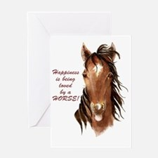 Happiness loved by a Horse Humorous  Greeting Card