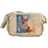 Pembroke welsh corgi Canvas Messenger Bags