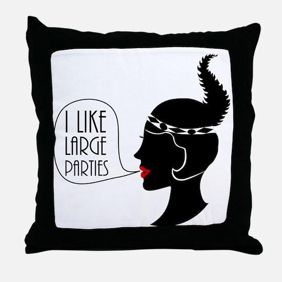 Gatsby Parties Throw Pillow