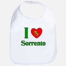 i Love Sorrento Italy Bib