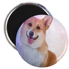 Smiling Corgi with wave Magnet