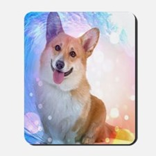 Smiling Corgi with Wave Mousepad