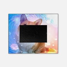 Smiling Corgi with Wave Picture Frame