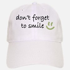 Don't Forget to SMILE - Green Happy Face Baseball Baseball Cap