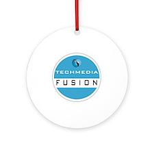 Techmedia Fusion Logo Round Ornament