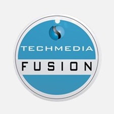 Techmedia Fusion Logo Round Ornament