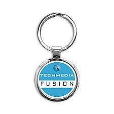 Techmedia Fusion Logo Round Keychain