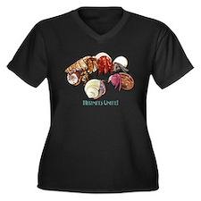 Hermits Unite! Women's Plus Size V-Neck Dark T-Shi