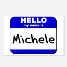 hello my name is michele  Postcards (Package of 8)