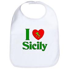 I love Sicily Bib