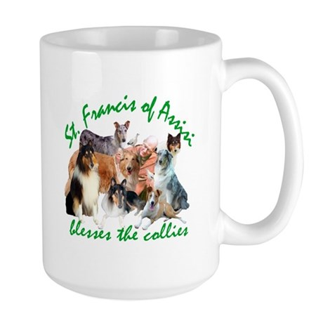 ST. FRANCIS BLESSES THE COLLIES Large Mug