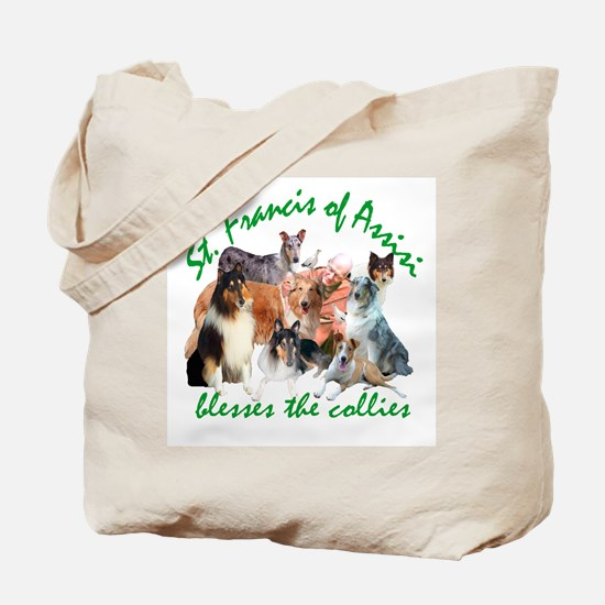 ST. FRANCIS BLESSES THE COLLIES Tote Bag