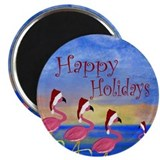 Beach christmas Magnets