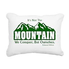 Edmund Hillary Mountaine Rectangular Canvas Pillow