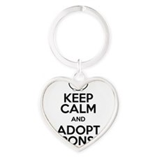 Keep Calm and Adopt Responsibly Heart Keychain