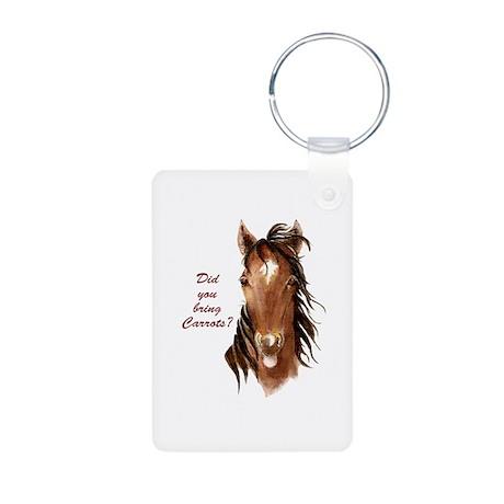 horsecarrots Aluminum Photo Keychain
