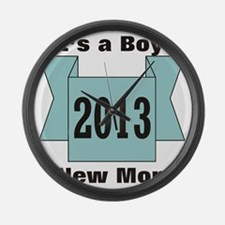 2013 New Mom of Boy Large Wall Clock