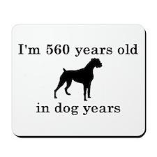 80 birthday dog years boxer 2 Mousepad