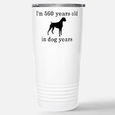 80 birthday dog years boxer 2 Travel Mug