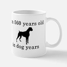 80 birthday dog years boxer 2 Mugs