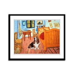 Van Gogh's Room & Basset Framed Panel Print
