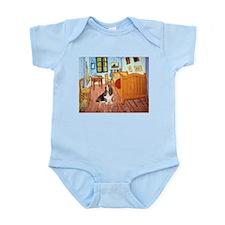 Van Gogh's Room & Basset Infant Bodysuit