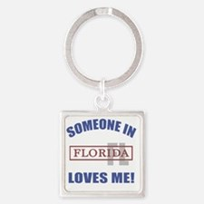 Someone In Florida Loves Me Square Keychain