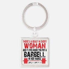 A BEAST IN EVERY WOMAN - WHITE Square Keychain