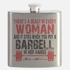 A BEAST IN EVERY WOMAN - WHITE Flask