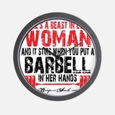 A BEAST IN EVERY WOMAN - WHITE Wall Clock