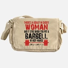 A BEAST IN EVERY WOMAN - WHITE Messenger Bag
