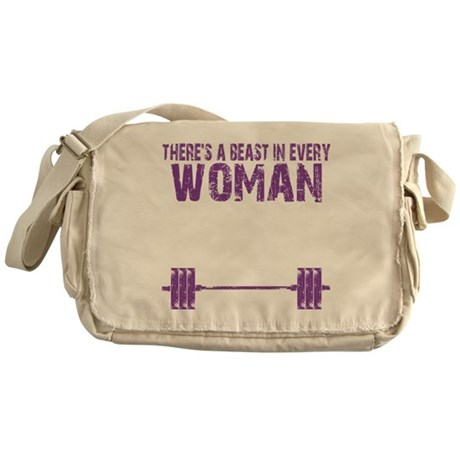 A BEAST IN EVERY WOMAN - PURPLE Messenger Bag