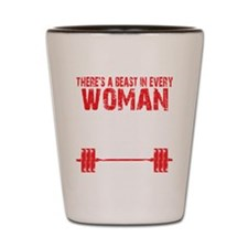 A BEAST IN EVERY WOMAN - Black Shot Glass