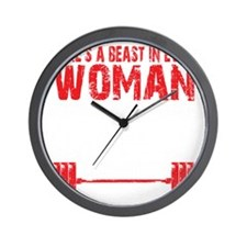 A BEAST IN EVERY WOMAN - Black Wall Clock