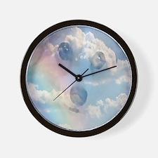 Corgi Rainbow Wall Clock