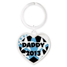 Stars Daddy 2013 Heart Keychain