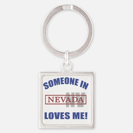 Someone In Nevada Loves Me Square Keychain