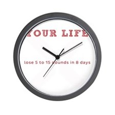 White X - Transform Your Life Wall Clock