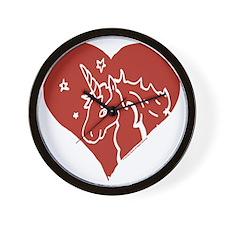 Love - Unicorns Wall Clock