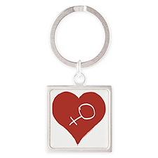 Love - Female Square Keychain