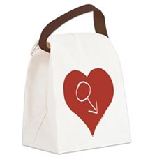 Love - Male Canvas Lunch Bag