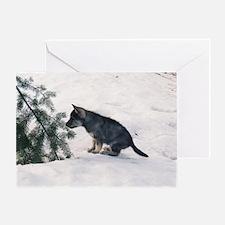 """""""Wolf  Dog  Cub"""" Greeting Card"""