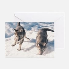 """Two  Cubs"" Greeting Card"