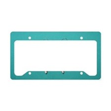 """""""Silver  And  Turquoise"""" License Plate Holder"""